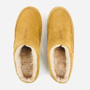 Brand New GEORGE Sherpa Lined Leather Slippers